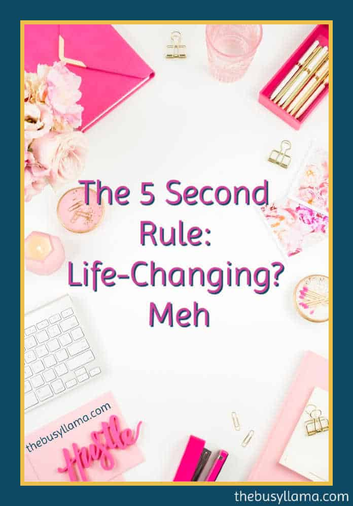 The 5 Second Rule takes more than five seconds to read but does it launch you to get things done for yourself and your dreams? Check out my review to find out. motivation, mindset, gsd, get stuff done #5secondrule #dowhatyoulove https://www.thebusyllama.com/5SecondRuleJournal