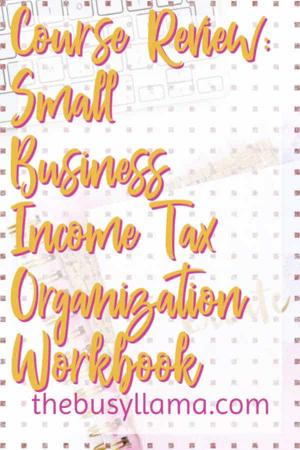 It is almost tax time! If those words strike fear in you or you aren't sure how to start, The Small Business Income Tax Organization Workbook might just be it! tax prep, small business tax #dowhatyoulove