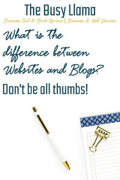 Blogs, websites, toe-mah-toe, tah-ma-toe? Right? Nope! What is the difference between websites and blogs? Click here to find out!